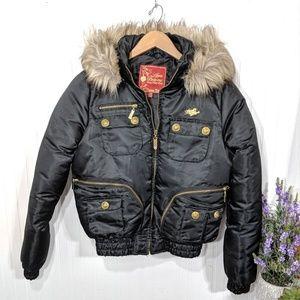 Apple Bottom Jeans Winter Coat Juniors Medium